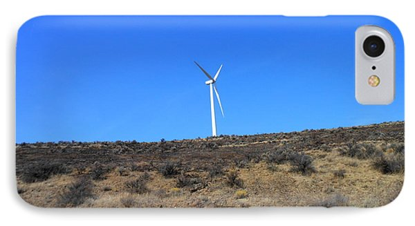 Windmill In The Desert Phone Case by Kay Gilley