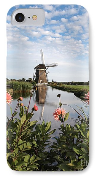 Windmill Landscape In Holland IPhone Case by IPics Photography