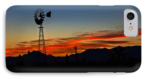 Windmill Silhouette Phone Case by Robert Bales
