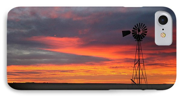 Windmill Sunrise IPhone Case by Shirley Heier
