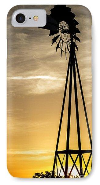 Windmill Sunset Phone Case by Mitch Shindelbower