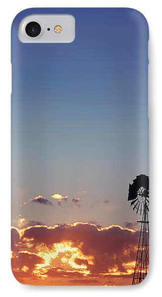 IPhone Case featuring the photograph Windmill Sunset by Rod Seel