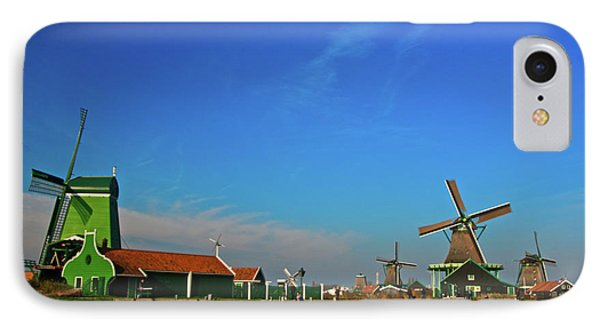 IPhone Case featuring the photograph Windmills At Zaanse Schans by Jonah  Anderson