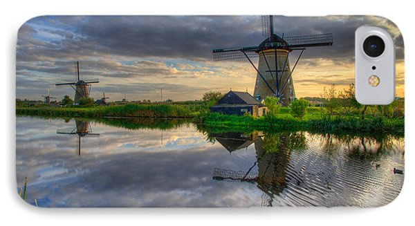 Windmills IPhone Case by Chad Dutson