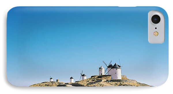 Windmills La Mancha Consuegra Spain IPhone Case by Panoramic Images