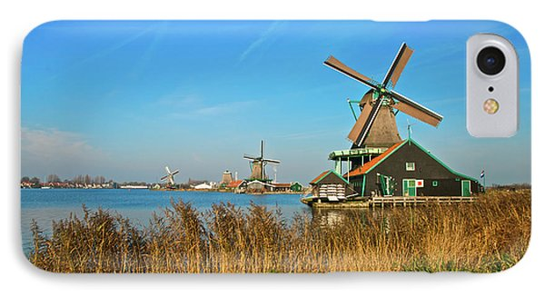 IPhone Case featuring the photograph Windmills On De Zaan by Jonah  Anderson