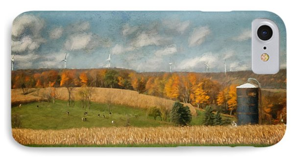 Windmills On The Horizon IPhone Case by Lois Bryan
