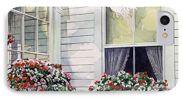 Window Boxes Phone Case by David Lloyd Glover