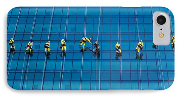 Window Cleaners Phone Case by David Van der Want