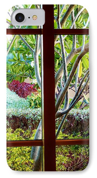 IPhone Case featuring the photograph Window Garden by Amar Sheow