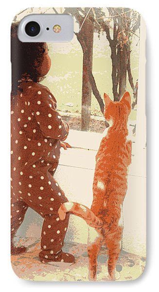Window Gazing  IPhone Case by Heidi Manly