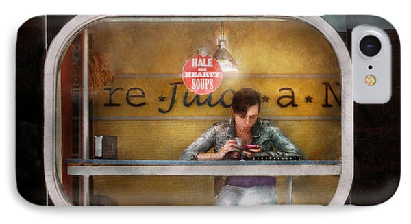 Window - Hoboken Nj - Hale And Hearty Soups  Phone Case by Mike Savad