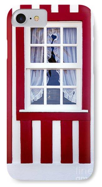 Window On Stripes Phone Case by Carlos Caetano