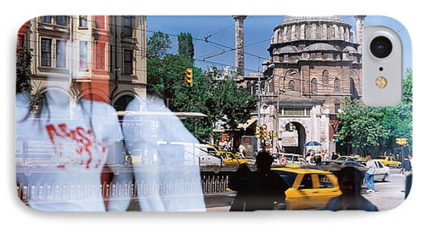 Window Reflection, Istanbul, Turkey IPhone Case by Panoramic Images