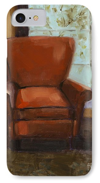 IPhone Case featuring the painting Window Seat by Nancy  Parsons