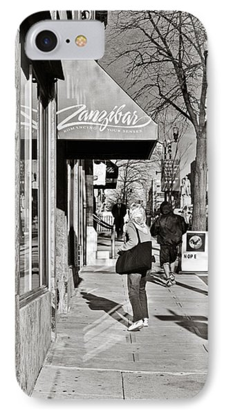 Window Shopping In Lancaster Phone Case by Trish Tritz