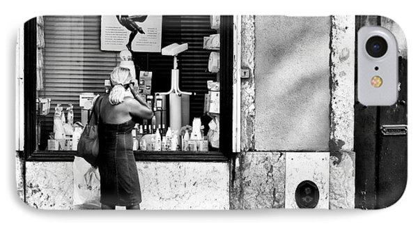 Window Shopping In Lisbon Phone Case by John Rizzuto