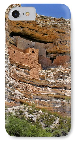Window To The Past - Montezuma Castle Phone Case by Christine Till
