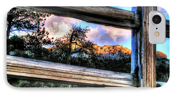 Window To Twin Sisters IPhone Case by Craig T Burgwardt