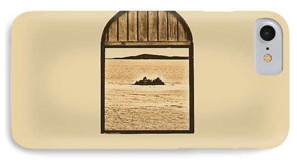 Window View Of Desert Island Puerto Rico Prints Rustic Phone Case by Shawn O'Brien