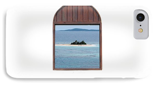 Window View Of Desert Island Puerto Rico Prints Phone Case by Shawn O'Brien