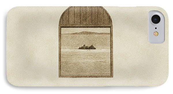 Window View Of Desert Island Puerto Rico Prints Vintage Phone Case by Shawn O'Brien