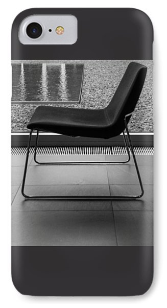 Window View With Chair In Black And White Phone Case by Ben and Raisa Gertsberg