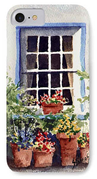 Window With Blue Trim Phone Case by Sam Sidders