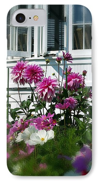 IPhone Case featuring the photograph Windows And Flowers by Randy Pollard