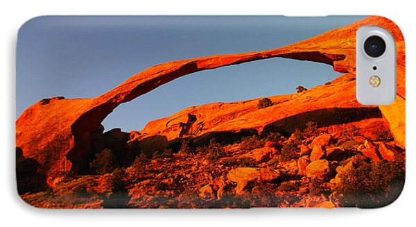 Windows Arch In The Morning Phone Case by Jeff Swan