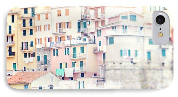 Windows Of Manarola Cinque Terre Italy IPhone Case by Kim Fearheiley