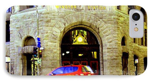 Windsor Train Station Canadian Pacific Downtown Montreal Historic Quebec Landmarks Carole Spandau Phone Case by Carole Spandau