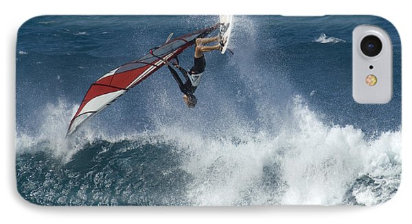 Windsurfer Hanging In Phone Case by Bob Christopher