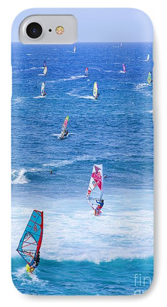 Windsurfers On Maui IPhone Case by Diane Diederich