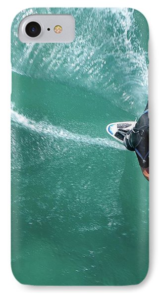 Windsurfing IPhone Case by Chris Knapton