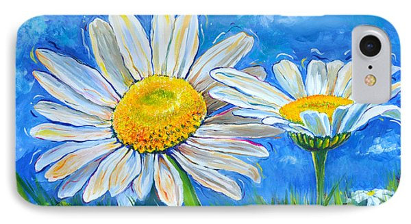 Windswept Daisies IPhone Case by Lisa Fiedler Jaworski