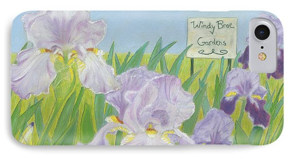 IPhone Case featuring the painting Windy Brae Gardens by Arlene Crafton