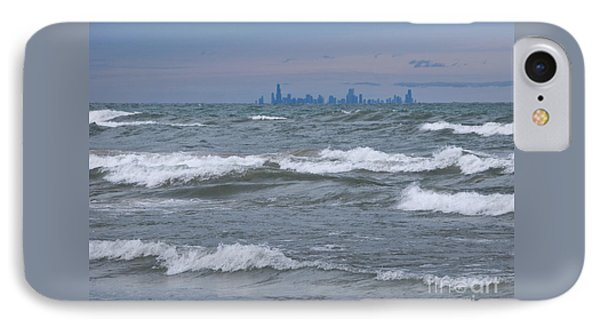Windy City Skyline IPhone Case by Ann Horn