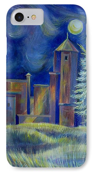 IPhone Case featuring the painting Windy Night In Midnapore by Anna  Duyunova