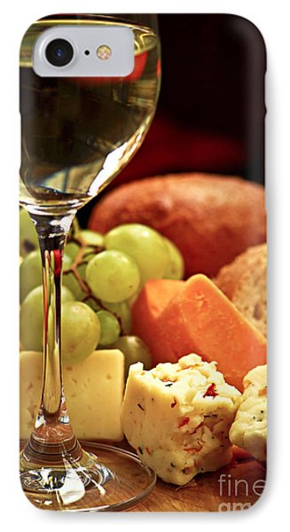 Wine And Cheese Phone Case by Elena Elisseeva