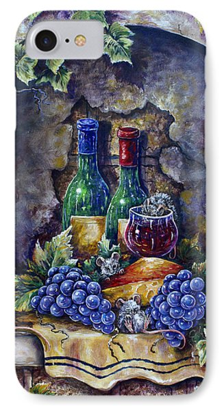 Wine And Cheese Social IPhone Case by Gail Butler