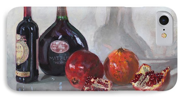 Wine And Pomegranates IPhone Case by Ylli Haruni