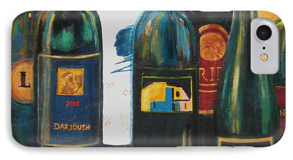 IPhone Case featuring the painting Wine Bar by Sheri  Chakamian