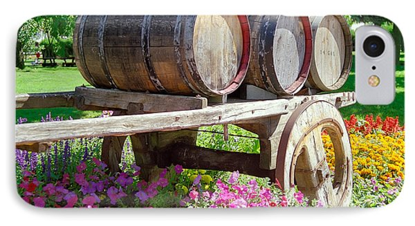 Wine Barrels In Spring At V Sattui Winery IPhone Case by Michelle Wiarda