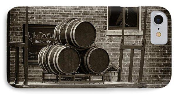 Wine Barrels On Rr Cart Hermann Mo Dsc09285 IPhone Case by Greg Kluempers