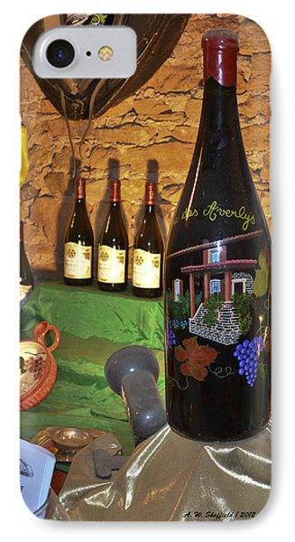 Wine Bottle On Display IPhone Case by Allen Sheffield