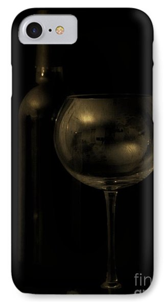Wine Bottle Still Life Deep Red IPhone Case