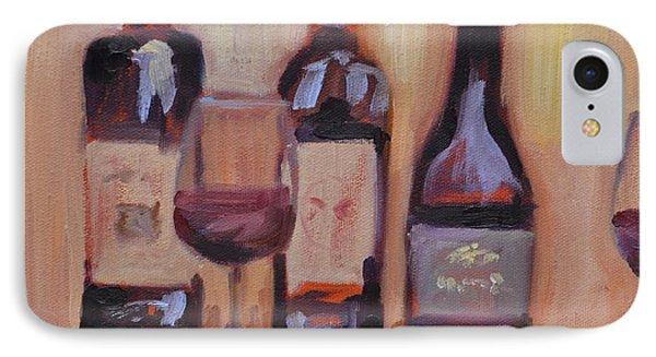 Wine Bottle Trio IPhone Case