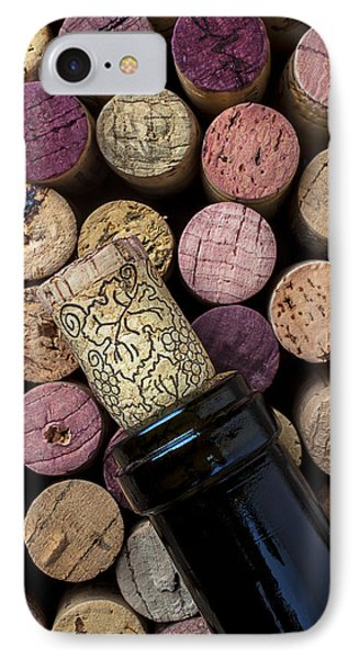 Wine Bottle With Corks Phone Case by Garry Gay