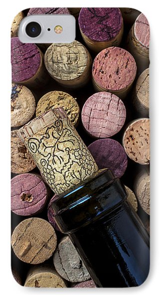 Wine Bottle With Corks IPhone Case by Garry Gay